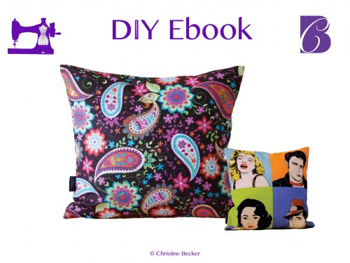 DIY E-Book Tutorial Pillow Cover with Zipper