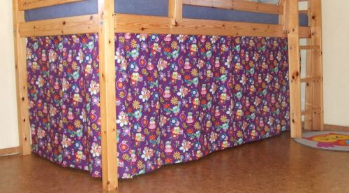 Curtain for Bunk Bed, Hoot Loves You, Blank Quilting