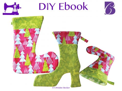 DIY E-Book Tutorial and Pattern Christmas Stocking & Ankle Boot