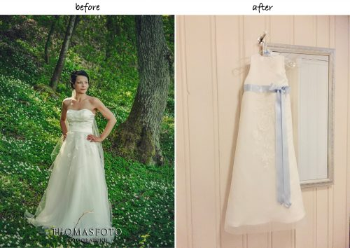 Baptism gown from wedding dress